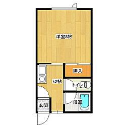 イナダマンション[1-A号室]の間取り