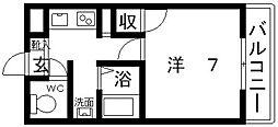 ハイツ岡本[203号室号室]の間取り