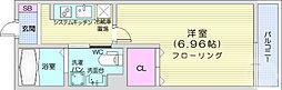 仙台市地下鉄東西線 連坊駅 徒歩7分の賃貸アパート 1階1Kの間取り
