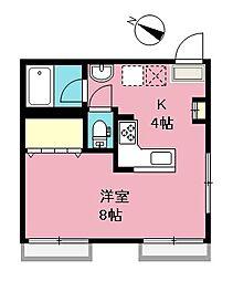 埼玉県さいたま市浦和区岸町4丁目の賃貸アパートの間取り