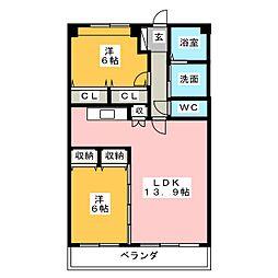 ワンダフルコートII[3階]の間取り