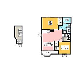 フェニックスYAGI C[2階]の間取り