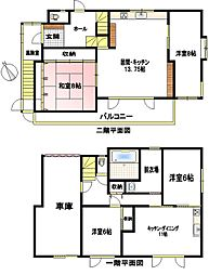 JR根室本線 釧路駅 バス30分 桜ケ岡通下車 徒歩3分 5LDKの間取り
