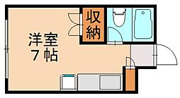 R The Residence 箱崎宮前[4階]の間取り