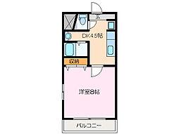 憧夢[2階]の間取り