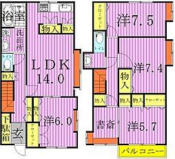 [一戸建] 千葉県柏市永楽台1丁目 の賃貸【/】の間取り