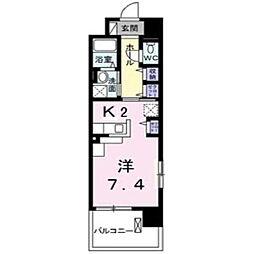 グランデ新宿[701号室]の間取り