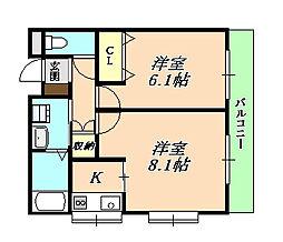 VIHARA歌敷山[2階]の間取り