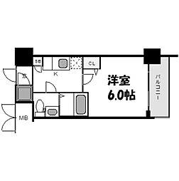 レジュールアッシュ梅田NEX[9階]の間取り