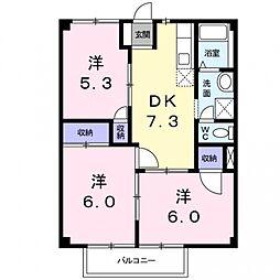 グランドハウスJY[102号室号室]の間取り