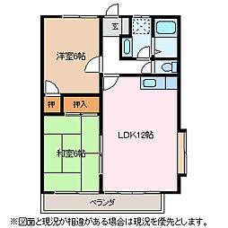 エクセレント桐B[2階]の間取り