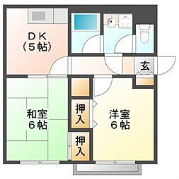 光栄ハイツ江坂[2階]の間取り