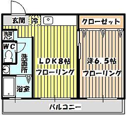 山内ビル[4階]の間取り