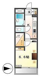 レオパレスKANOKOII[1階]の間取り