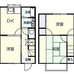 [テラスハウス] 神奈川県平塚市花水台 の賃貸【/】の間取り