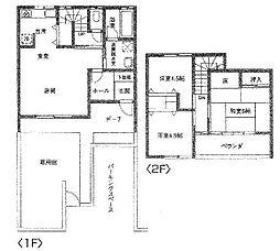 [テラスハウス] 埼玉県桶川市北2丁目 の賃貸【/】の間取り