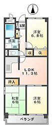 ドミール武庫川[301号室]の間取り