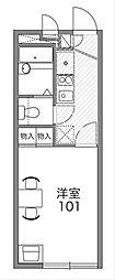 LEOPALACE モンブラン[2階]の間取り