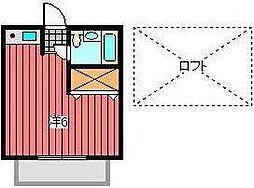 ペンション南浦和A棟[2階]の間取り