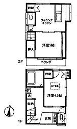 [一戸建] 神奈川県横浜市中区大平町 の賃貸【/】の間取り