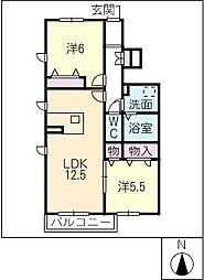 サンクォーレ[1階]の間取り