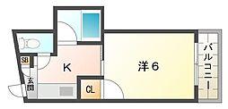シャルマン大枝[4階]の間取り
