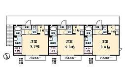 シャーメゾンHARUKA[103号室]の間取り