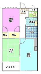 マンション昭栄[201号室]の間取り