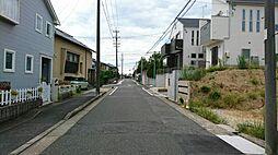 土地の前の道路...
