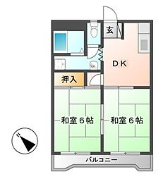 コーポ松栄[1階]の間取り