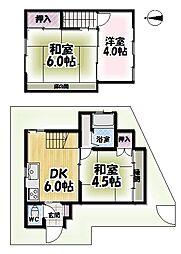 [一戸建] 京都府京都市伏見区桃山町三河 の賃貸【/】の間取り