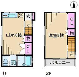 [一戸建] 東京都北区岩淵町 の賃貸【東京都/北区】の間取り