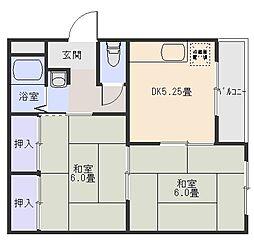 森田ツインコーポB棟[3階]の間取り