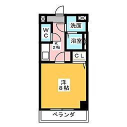 神領ステーションビル[3階]の間取り