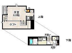 CB姪浜ポース[203号室号室]の間取り