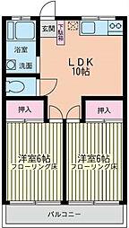 神奈川県横浜市磯子区田中2丁目の賃貸マンションの間取り