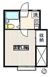 久保田ハイツ[203号室]の間取り