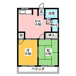 ハイムAKI[1階]の間取り