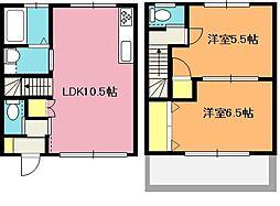 [テラスハウス] 埼玉県北本市本宿1丁目 の賃貸【/】の間取り