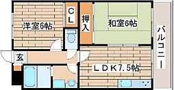 兵庫県神戸市西区宮下1丁目の賃貸マンションの間取り