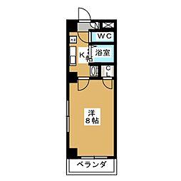タウンコート桜井[6階]の間取り