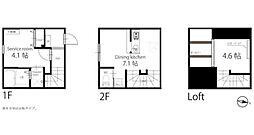 ハーミットクラブハウス自由が丘[6号室号室]の間取り