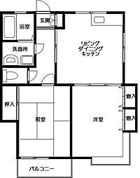 神奈川県川崎市多摩区栗谷3丁目の賃貸アパートの間取り