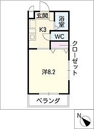 ヒルトップコート[2階]の間取り