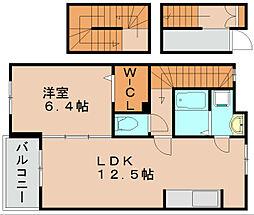 福岡県福岡市東区松田3丁目の賃貸アパートの間取り