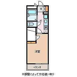 長野県松本市井川城1丁目の賃貸マンションの間取り