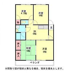 愛知県一宮市昭和2丁目の賃貸マンションの間取り