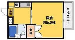 クレール白井[1階]の間取り
