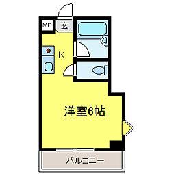 スカイ南花台[7階]の間取り