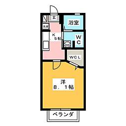 プランドールD[2階]の間取り